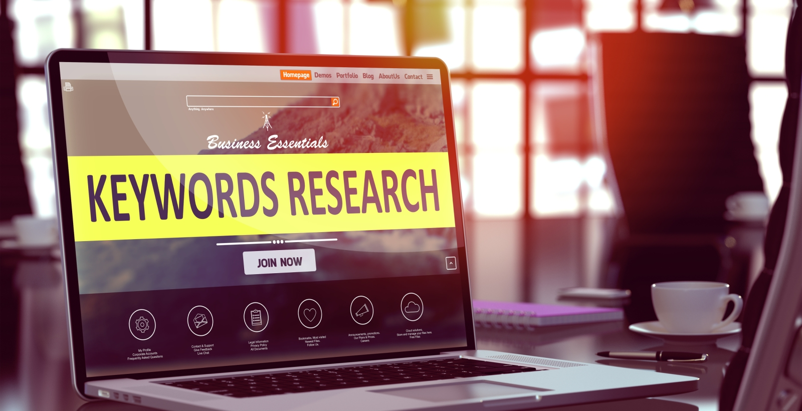 keyword research image for content marketing