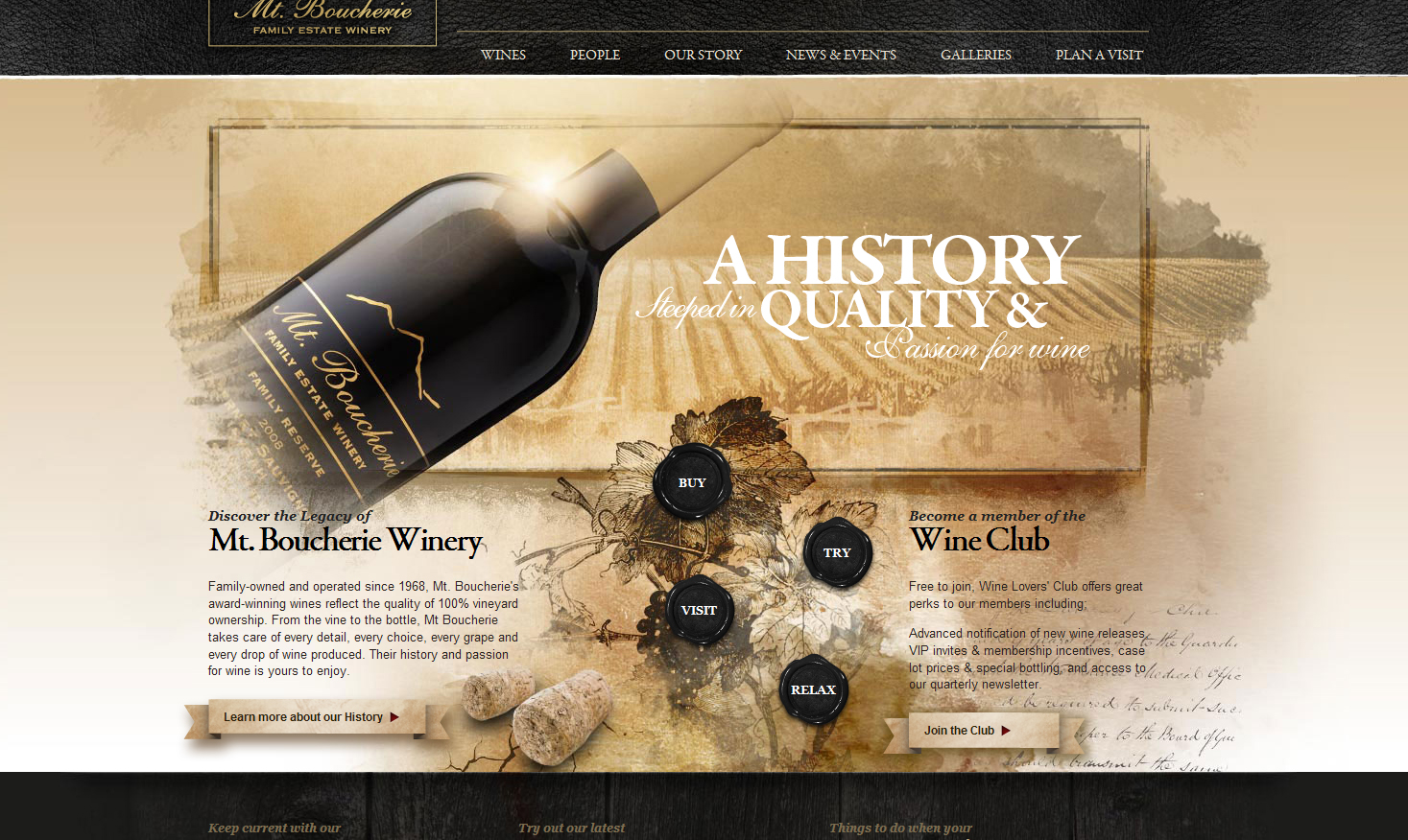 Mt Boucherie Winery Web Design